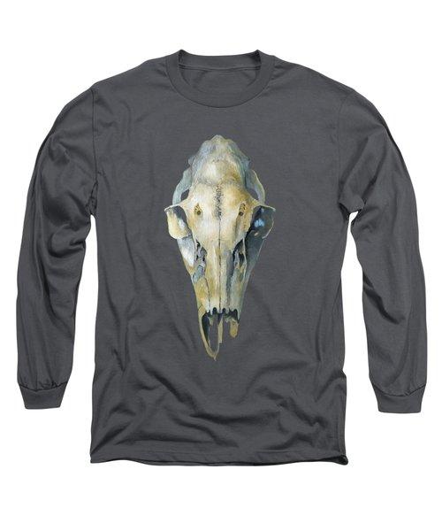 Deer Skull With Aura Long Sleeve T-Shirt