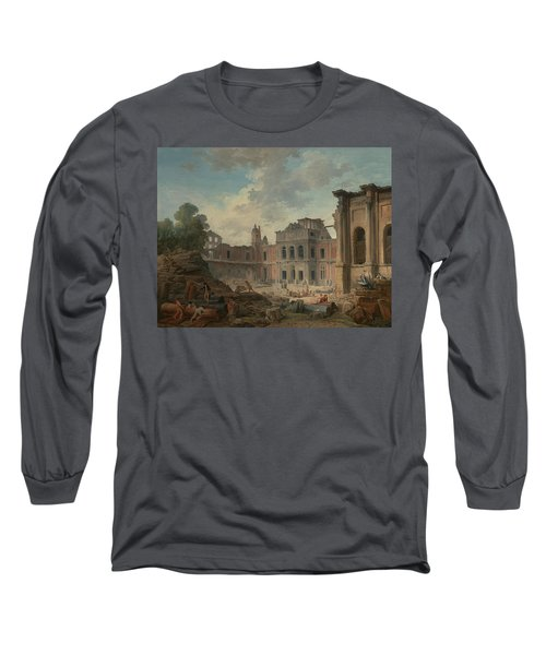Demolition Of The Chateau Of Meudon Long Sleeve T-Shirt