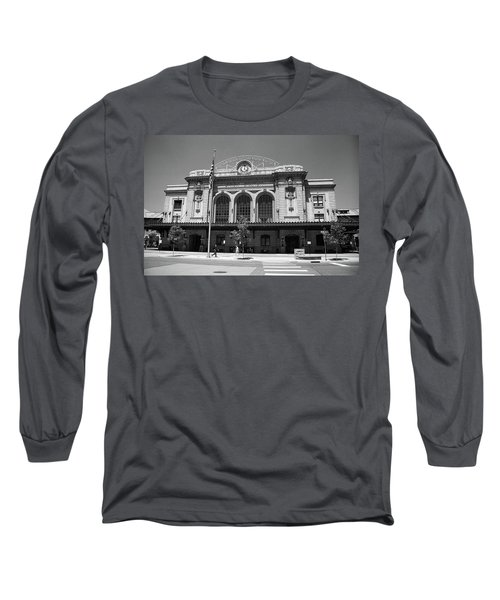 Denver - Union Station Film Long Sleeve T-Shirt by Frank Romeo