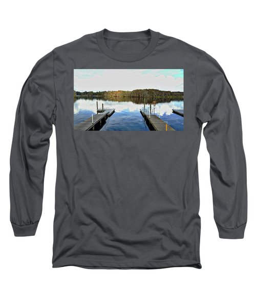 Long Sleeve T-Shirt featuring the photograph Dock Of The Bay by Michael Albright