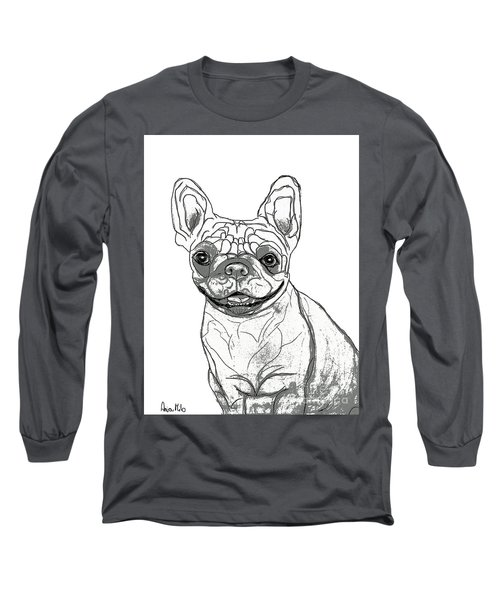 Dog Sketch In Charcoal 7 Long Sleeve T-Shirt