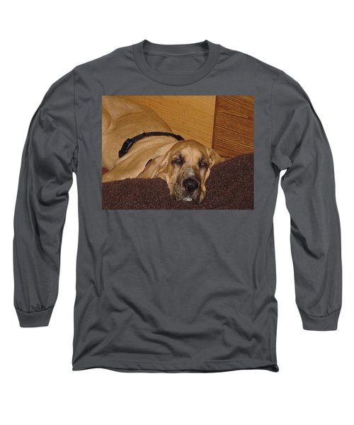 Dog Tired Long Sleeve T-Shirt by Val Oconnor