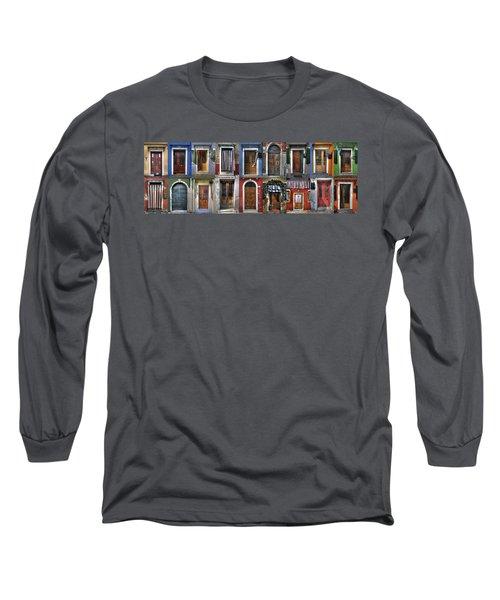 doors and windows of Burano - Venice Long Sleeve T-Shirt