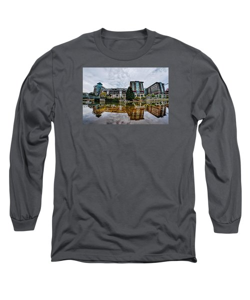 Downtown Of Greenville South Carolina Around Falls Park Long Sleeve T-Shirt by Alex Grichenko