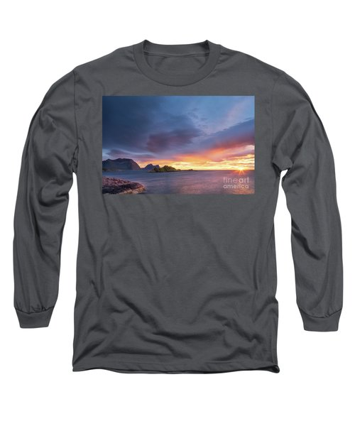 Long Sleeve T-Shirt featuring the photograph Dreamy Sunset by Maciej Markiewicz