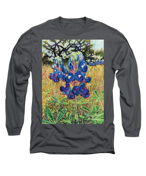 Long Sleeve T-Shirt featuring the painting Early Bloomers by Hailey E Herrera