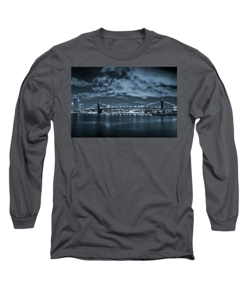 Long Sleeve T-Shirt featuring the photograph East River View by Az Jackson