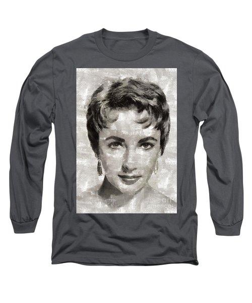Elizabeth Taylor, Vintage Hollywood Legend Long Sleeve T-Shirt
