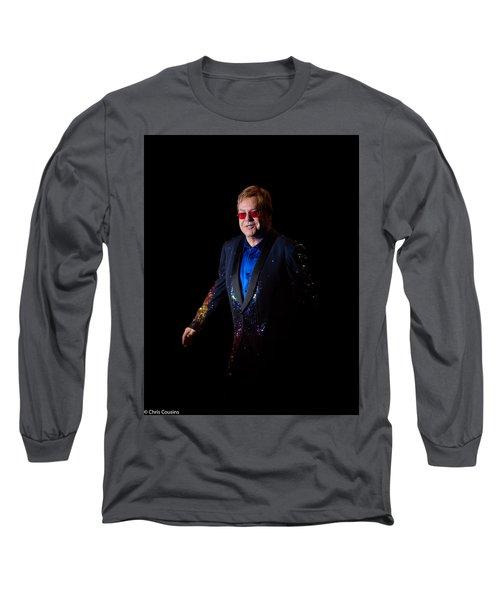 Long Sleeve T-Shirt featuring the photograph Elton John by Chris Cousins