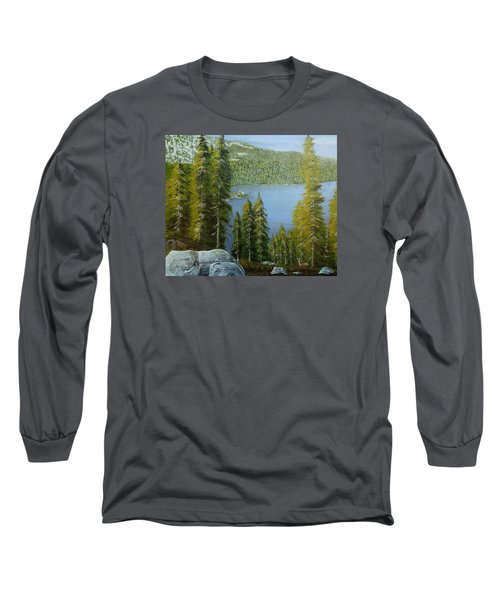 Emerald Bay - Lake Tahoe Long Sleeve T-Shirt by Mike Caitham