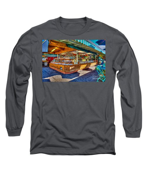 Fairfax Farmers Market Long Sleeve T-Shirt by David Zanzinger
