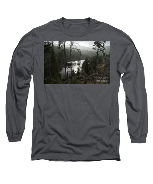 Firehole River In Yellowstone Long Sleeve T-Shirt by Cindy Murphy - NightVisions