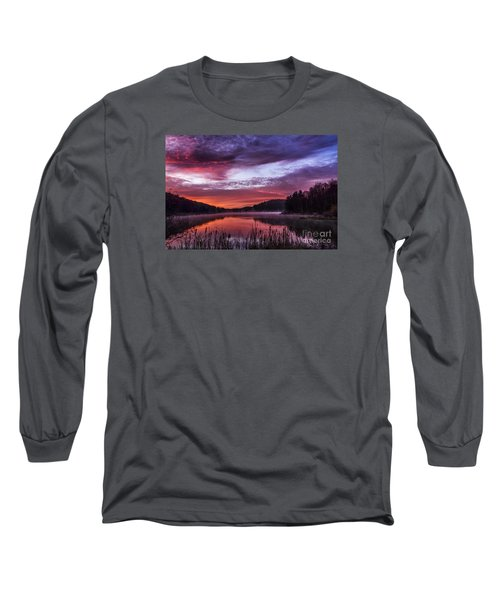 First Light On The Lake Long Sleeve T-Shirt by Thomas R Fletcher