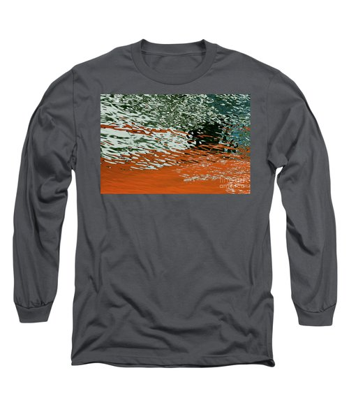 Long Sleeve T-Shirt featuring the photograph Floating On Blue 43 by Wendy Wilton