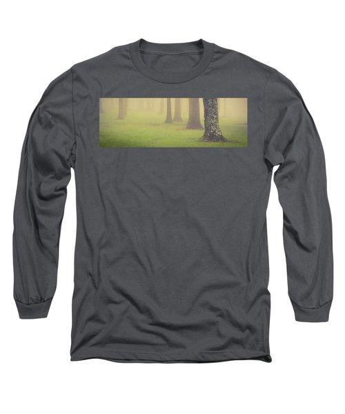 Long Sleeve T-Shirt featuring the photograph Foggy Trees Pano by Joye Ardyn Durham