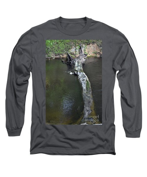 Long Sleeve T-Shirt featuring the photograph Footbridge by Skip Willits