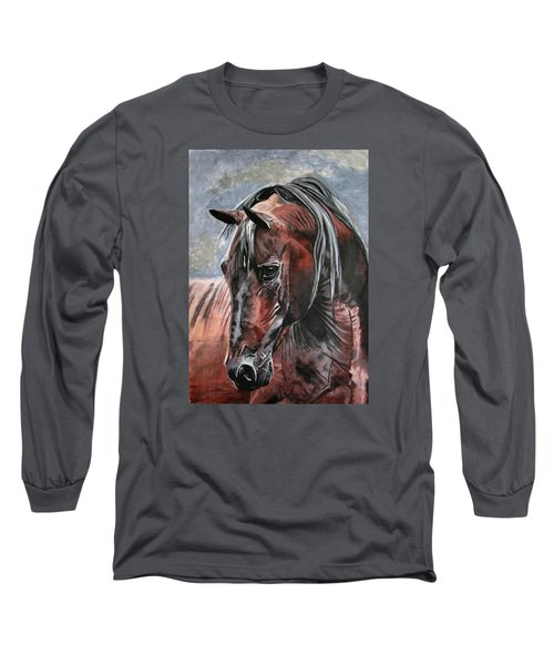 Long Sleeve T-Shirt featuring the painting Forever by Melita Safran