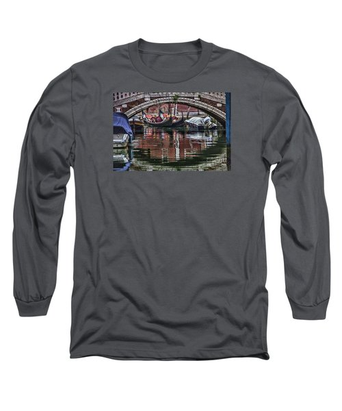Framed Gondolas Long Sleeve T-Shirt by Shirley Mangini