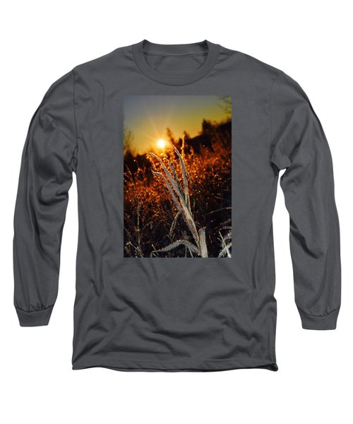 Frosty Sunrise Long Sleeve T-Shirt by Dacia Doroff