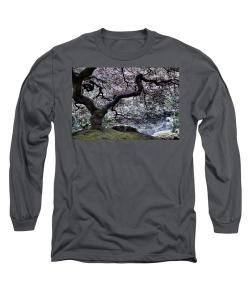 Garden View In Blue Long Sleeve T-Shirt
