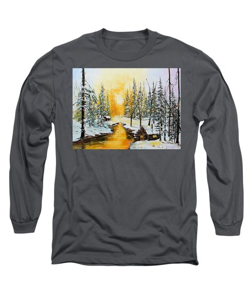Golden Winter Long Sleeve T-Shirt