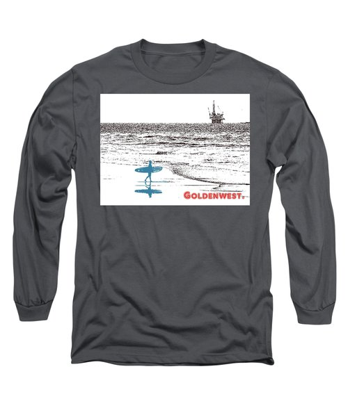 Long Sleeve T-Shirt featuring the photograph Goldenwest by Everette McMahan jr
