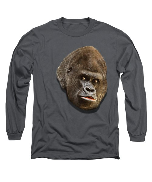 Gorilla Long Sleeve T-Shirt by Ericamaxine Price