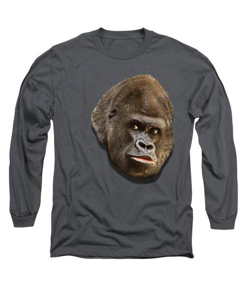 Gorilla Long Sleeve T-Shirt by Ericamaxine Price