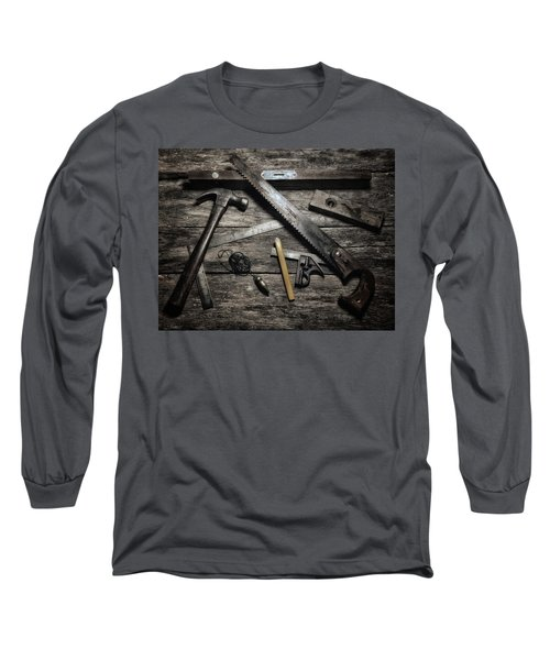 Long Sleeve T-Shirt featuring the photograph Granddad's Tools by Mark Fuller