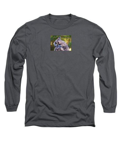 Great Horned Owl  Long Sleeve T-Shirt by Michele Penner