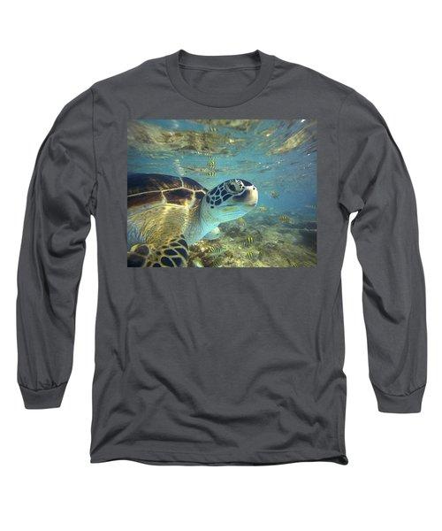 Green Sea Turtle Balicasag Island Long Sleeve T-Shirt