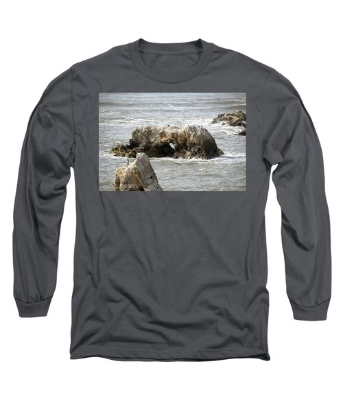 Long Sleeve T-Shirt featuring the photograph Grey Water At Window Rock by Barbara Snyder