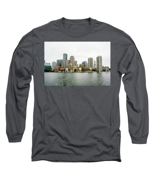 Long Sleeve T-Shirt featuring the photograph Harbor View by Greg Fortier