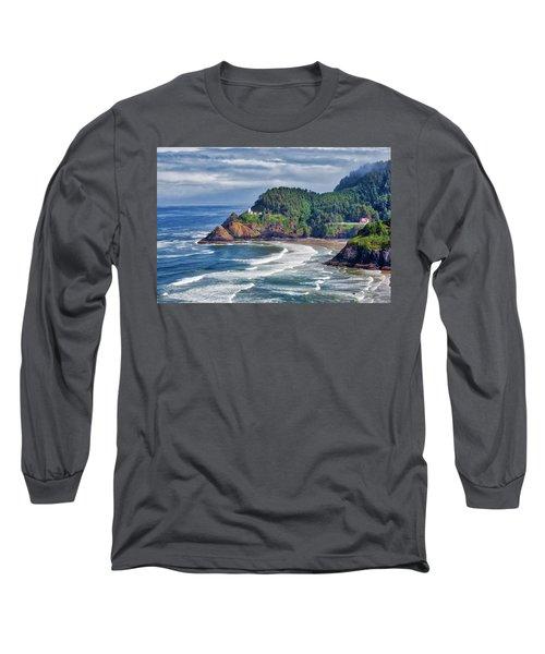 Heceta Head Light - Color Long Sleeve T-Shirt