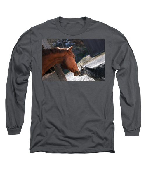 Hello Friend Long Sleeve T-Shirt by Angela Rath