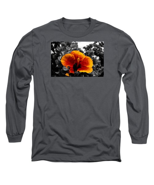 Long Sleeve T-Shirt featuring the photograph Hibiscus Beauty by Randy Sylvia