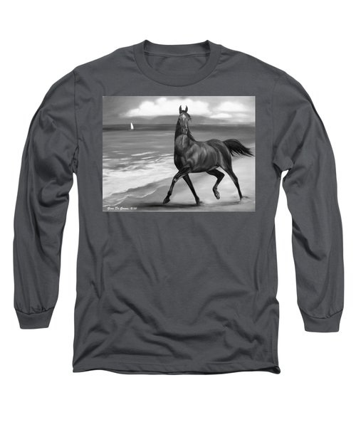Horses In Paradise  Dance Long Sleeve T-Shirt