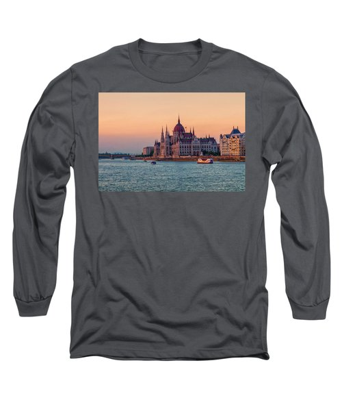 Hungarian Parliament Building In Budapest, Hungary Long Sleeve T-Shirt