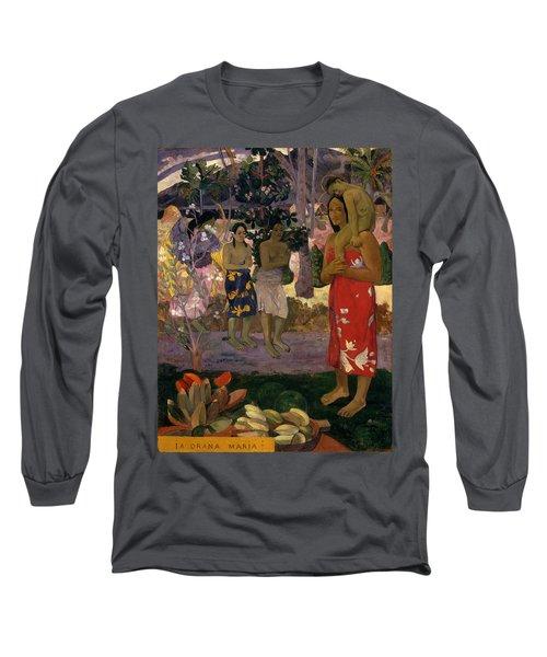Ia Orana Maria Hail Mary Long Sleeve T-Shirt