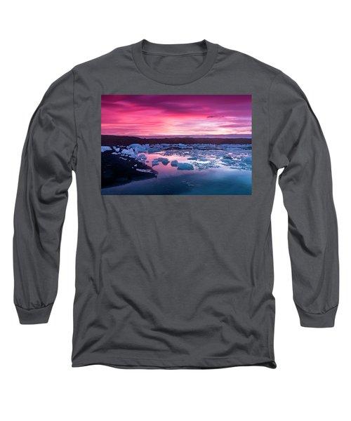 Iceberg In Jokulsarlon Glacial Lagoon Long Sleeve T-Shirt by Joe Belanger