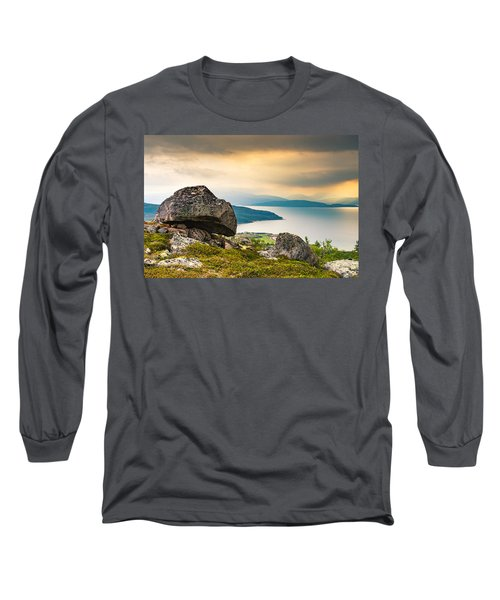 Long Sleeve T-Shirt featuring the photograph In The North by Maciej Markiewicz