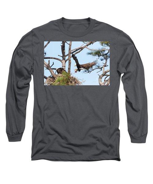 Long Sleeve T-Shirt featuring the photograph Incoming Food by Deborah Benoit