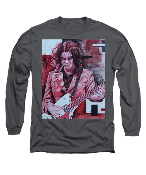 Long Sleeve T-Shirt featuring the drawing Jack White by Joshua Morton