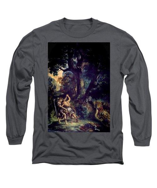Jacob Wrestling The Angel Long Sleeve T-Shirt
