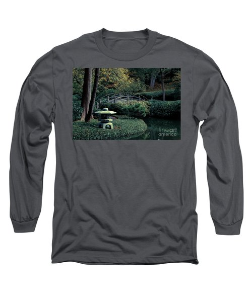 Long Sleeve T-Shirt featuring the photograph Japanese Garden In Summer by Iris Greenwell