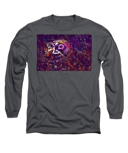 Long Sleeve T-Shirt featuring the digital art Jellyfish North Sea Beach Mollusk  by PixBreak Art