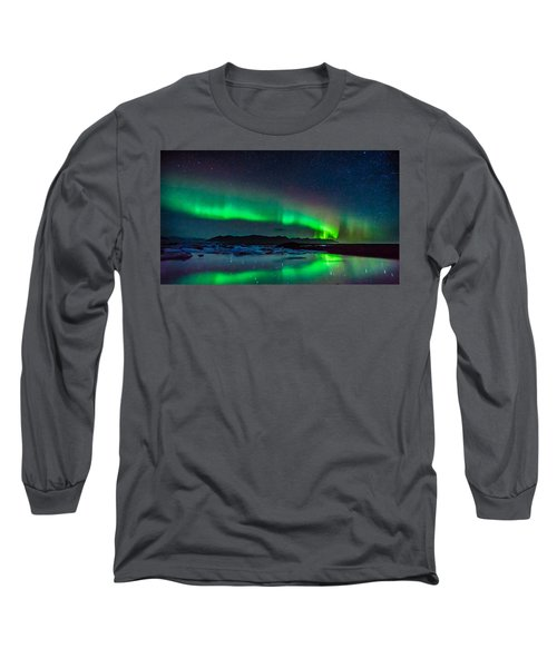 Jokulsarlon Aurora Long Sleeve T-Shirt