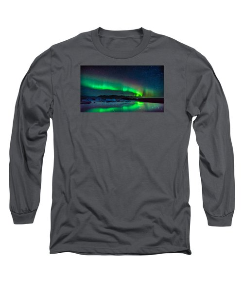 Jokulsarlon Aurora Long Sleeve T-Shirt
