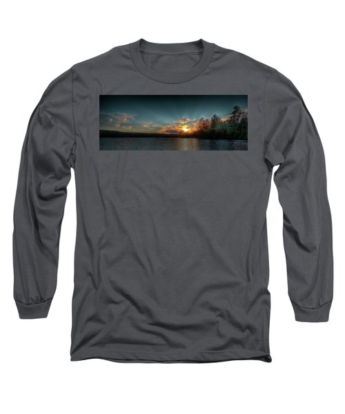 June Sunset On Nicks Lake Long Sleeve T-Shirt by David Patterson