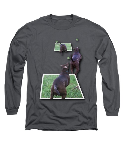 Keep Your Eye On The Ball Long Sleeve T-Shirt by Roger Wedegis